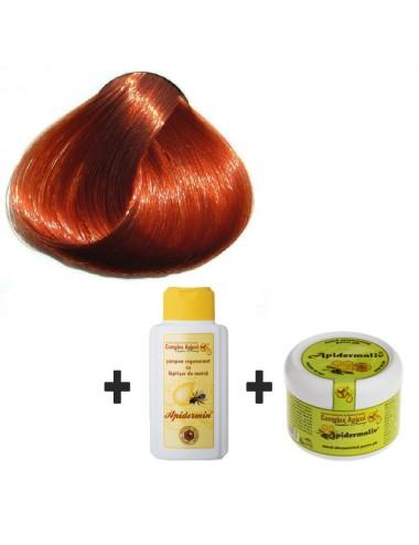 Set Herbul Henna Arămiu + şampon regenerant şi mască ultranutritivă pentru păr