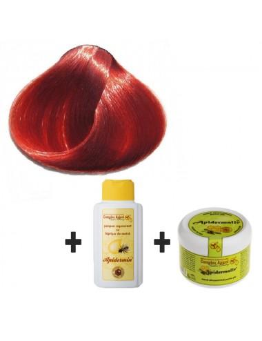 Set Herbul Henna Mahon + şampon regenerant şi mască ultranutritivă pentru păr