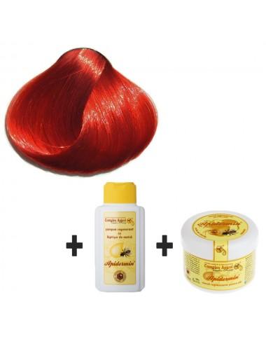 Set Herbul Henna Roşu Suprem + şampon şi mască regenerantă