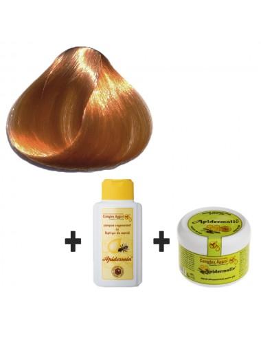 Set Herbul Henna Blond Închis + şampon regenerant şi mască ultranutritivă