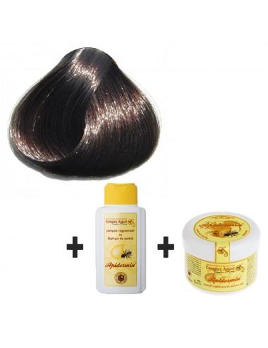 Set Herbul Henna negru + şampon şi mască regenerantă pentru păr