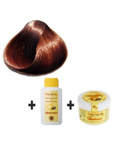 Set Herbul Henna Şaten + şampon şi mască regenerantă pentru păr