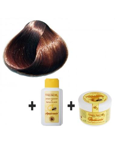 Set Herbul Henna Şaten Închis + şampon şi mască regenerantă pentru păr