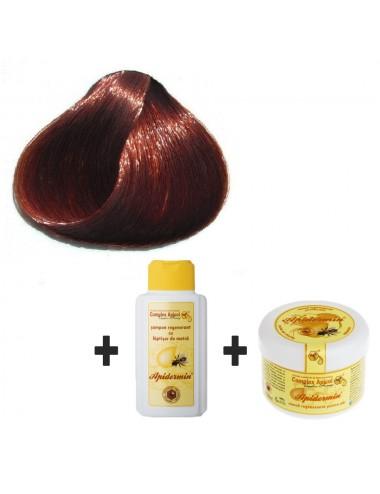 Set Herbul Henna Castaniu + şampon şi mască regenerantă pentru păr