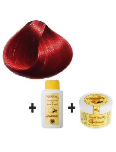 Set Herbul Henna Vişiniu de Burgundia + şampon şi mască regenerantă