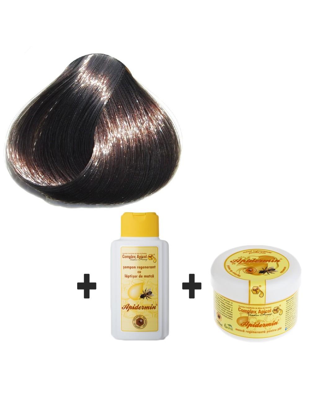 Set Eagle`s Henna Negru + şampon şi mască regenerantă pentru păr
